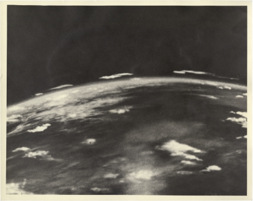 Photo of Earth from the Thermosphere Taken by a Camera Attached to a V2 Rocket