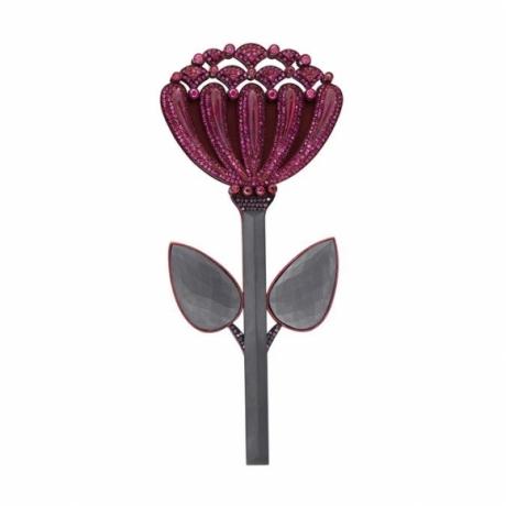 Ruby Chrysanthemum Pin