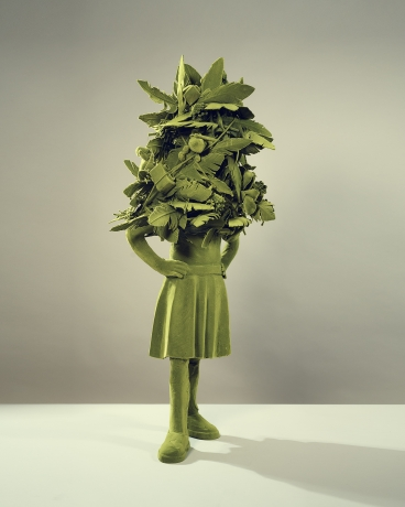 Mossgirl With Feather Decoration