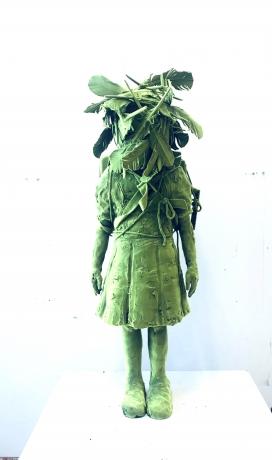 Moss Girl Shaman with Birdhouse