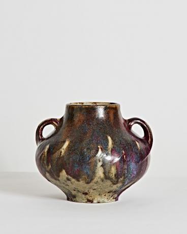 Oxblood Handled Vase