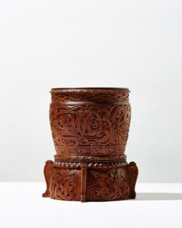 Carved Wooden Vase