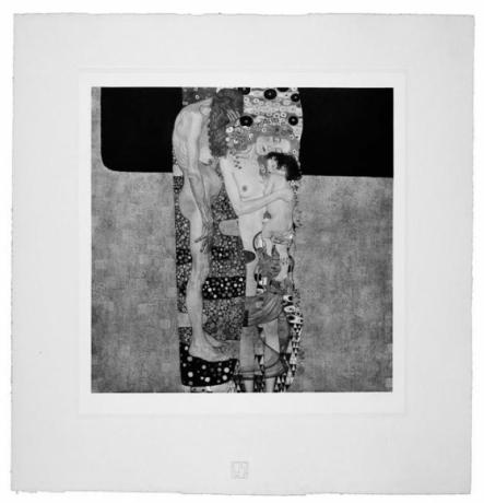 The Three Stages of Life from Das Werk Gustav Klimts printed in 1914