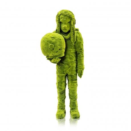 Moss Astronaut Holding Helmet