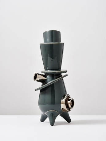 Grey Standing Sculpture with Platin #6