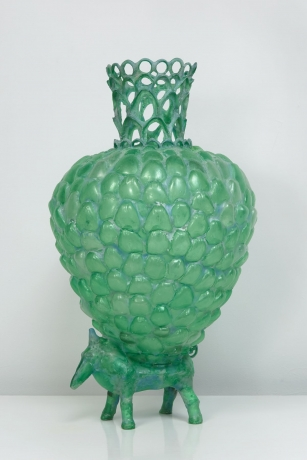 Green Animal with Vessel