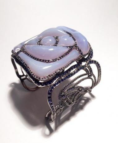 Square Rose Bracelet (Pale Blue)