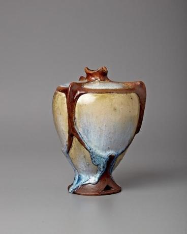 Faux Bronze Mount Vase