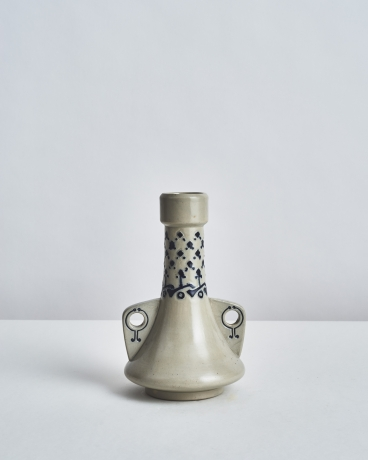 White and Blue Vase