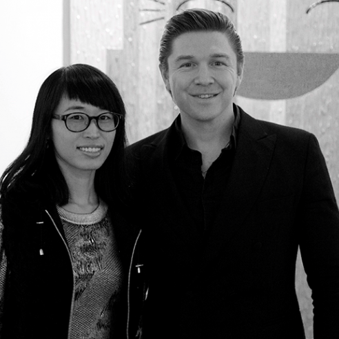 Zheyna Xia with Gallerist Philippe Hoerle-Guggenheim