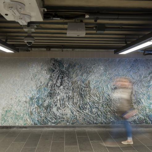 Permanent Mosaics for MTA at 34th Street 7th Avenue Penn Station, New York, NY