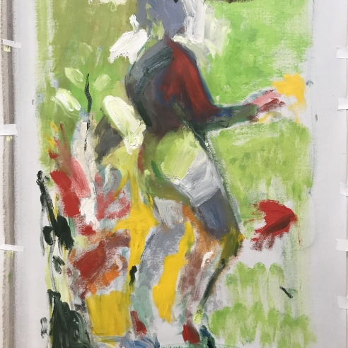 Untitled (Figure for Landscape Triptych)