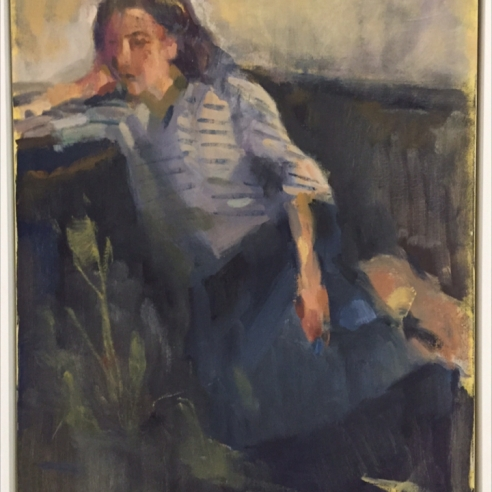 Girl With a Striped Shirt