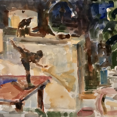 APARTMENT STILL LIFE WITH DEGAS STATUE