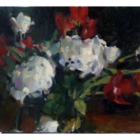 Rest, Arrangement of Flowers