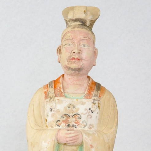 Male Court Official / Painted Pale Pottery