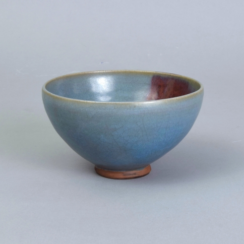 A Junyao Purple-Splashed Pale-Blue 'Bubble' Bowl