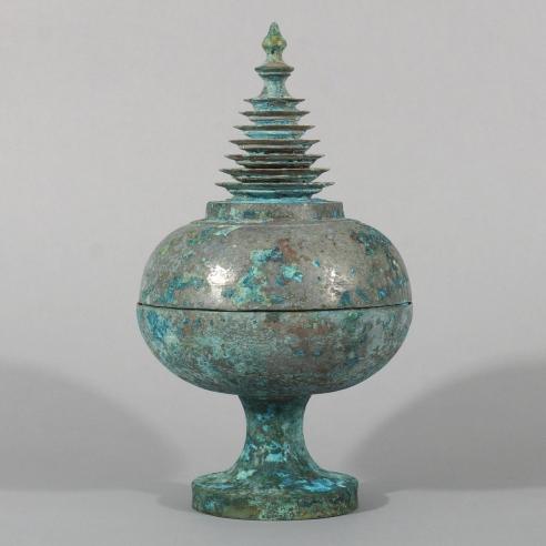 Rare Bronze Reliquary & Cover