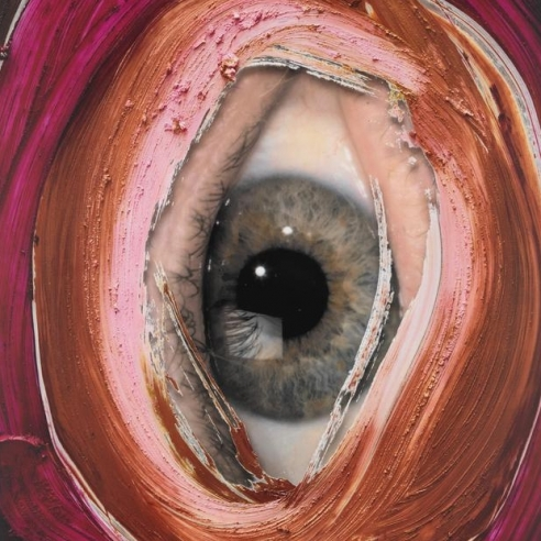 Image of an eye by Urs Fischer