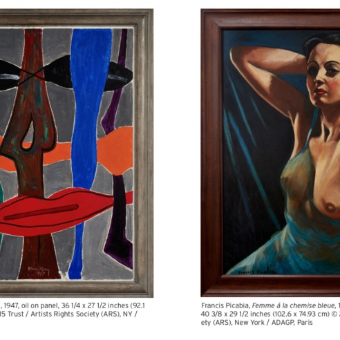 An imaginary dialogue of Man Ray and Picabia
