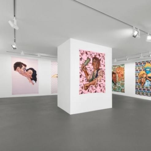 Walter Robinson at Vito Schnabel Gallery, St. Moritz