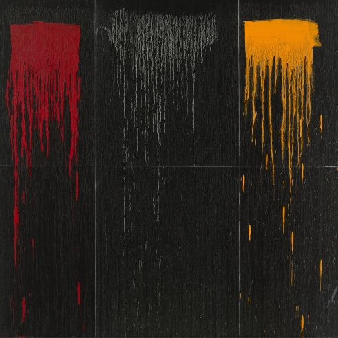 Oil on canvas painting by Pat Steir