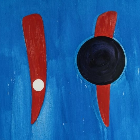 Abstract oil on shaped linen painting by Ron Gorchov