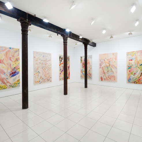 Installation view: Gus Van Sant: Recent Paintings, Hollywood Boulevard, Vito Schnabel Gallery