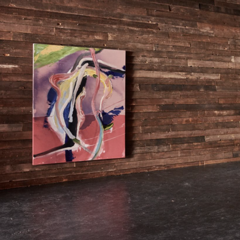 Installation view of some new paintings by Schnabel