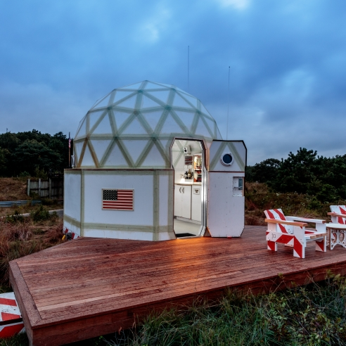 Would You Pay Six Figures to Live in Artist Tom Sachs's Spacecraft-like Sculpture?