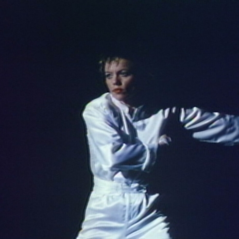 Digital video projection on continuous loop by Laurie Anderson