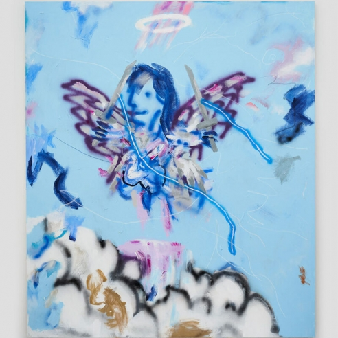 Paintings Can Talk Back to You: Robert Nava Interviewed by Osman Can Yerebakan. A series of canvases featuring portraits of angels.