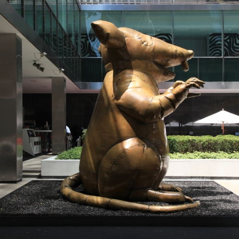 CHECK OUT THE BRUCE HIGH QUALITY FOUNDATION'S BLUE-COLLAR CHIC UNION RAT AT LEVER HOUSE