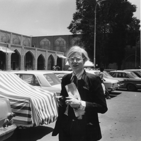 Andy with Covered Cars, Isfahan, Iran, 1976
