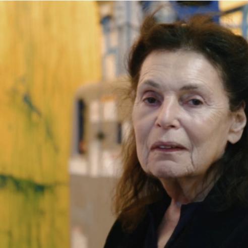 Pat Steir in her studio. VERONICA GONZALEZ PEÑA