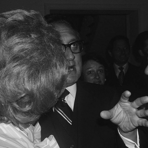 Henry Kissinger Holding Forth, Washington D.C., c. 1976