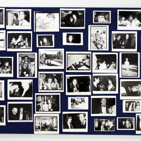 An installation image of Pictures From Another Time: Photographs by Bob Colacello, 1976 – 1982.