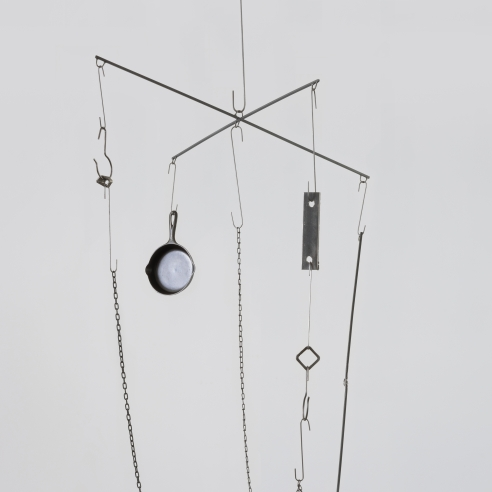 Mixed media mobile by Sterling Ruby