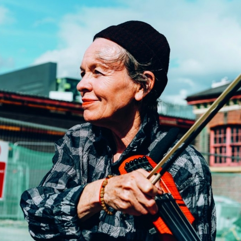 Laurie Anderson at The Factory Groundbreaking photo: Tarnish Vision