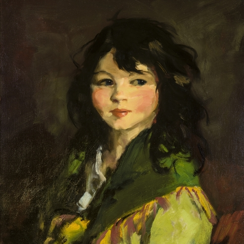 """Image of Robert Henri's """"Francine"""", oil on canvas, 20 x 24 inches, painted in 1921."""