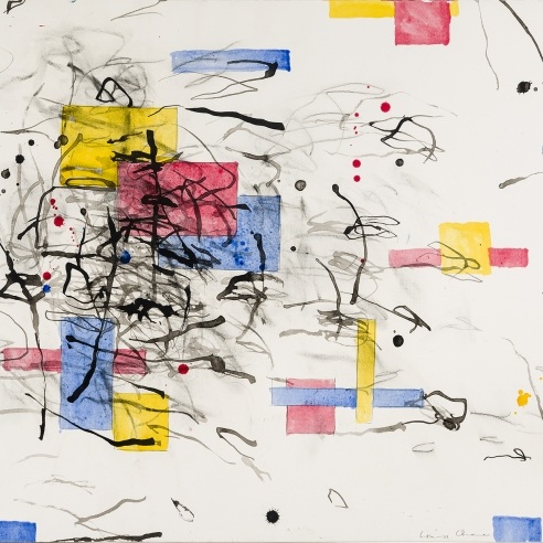 "Image of Louisa Chase's ""Untitled"" painted in 1989. Ink, watercolor, pencil and charcoal on paper, 19 5/8 by 23 1/2 inches."