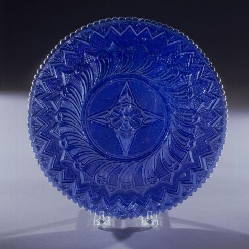 "Sapphire Blue ""Lacy"" Deep Bowl"
