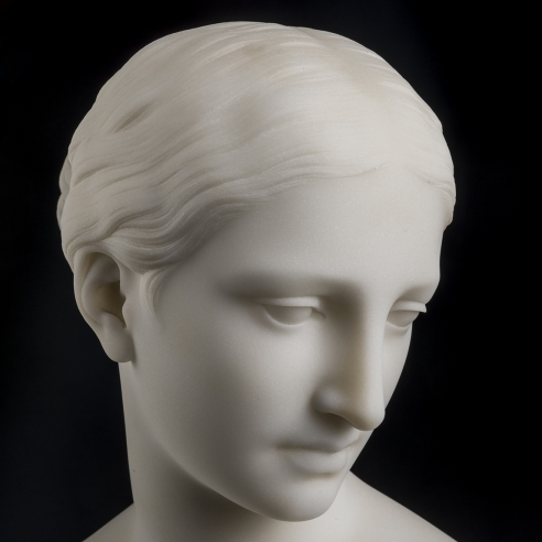 HIRAM POWERS (1805–1873), Greek Slave, 1852. Marble, 15 in. high (detail).