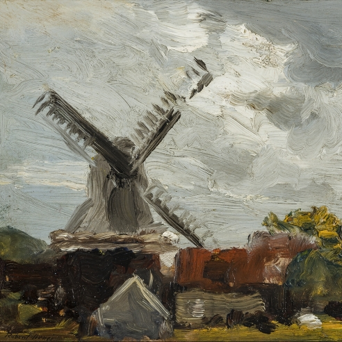 ROBERT HENRI (1865–1929), Windmill near Edam, 1907 (detail).