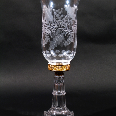 Clear Hurricane Lamp