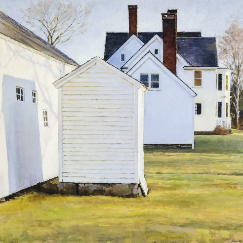 "Peter Poska's ""Bellamy-Ferriday House,"" oil on board, 19 5/6 by 19 1/2 inches, painted in 2014."
