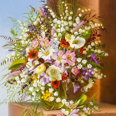 ADELHEID DIETRICH (1827–1891), Spring Bouquet, 1878. Oil on canvas, 13 1/2 x 11 1/2 in. (detail).