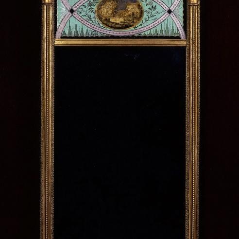 Pier Mirror with Eglomisé Panels