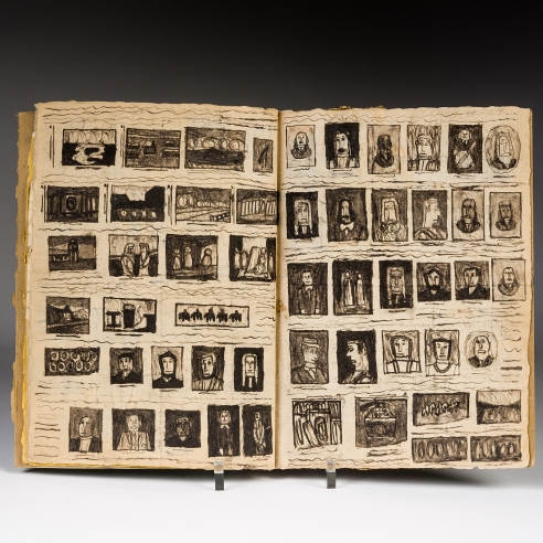 a 12-page book full of drawings by self-taught artist James Castle