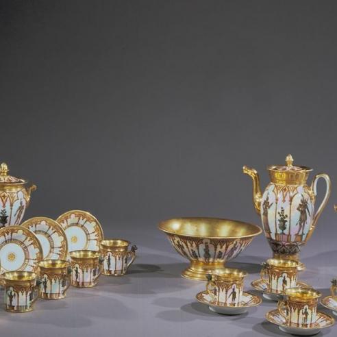 """""""Old Paris"""" Porcelain Tea/Coffee Service"""